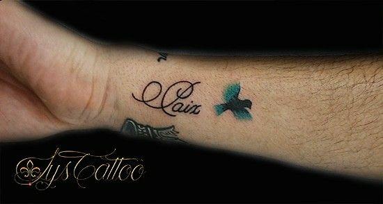 tatouage avant bras poignet femme tatou lettrage et petit oiseau en couleur gradignan proche. Black Bedroom Furniture Sets. Home Design Ideas