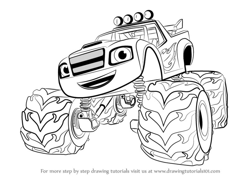 Learn How To Draw Blaze From Blaze And The Monster Machines Blaze And The Monster M Monster Truck Coloring Pages Paw Patrol Coloring Blaze The Monster Machine