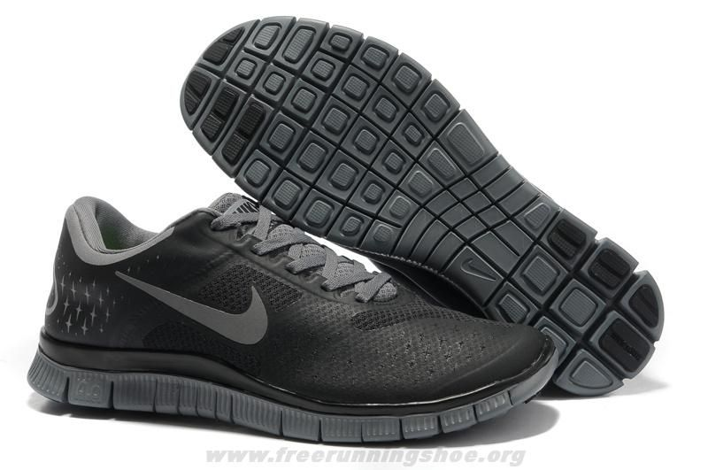 Cheap Black Cool Grey Mens Nike Free 4.0 V2 511472-001 For Sale