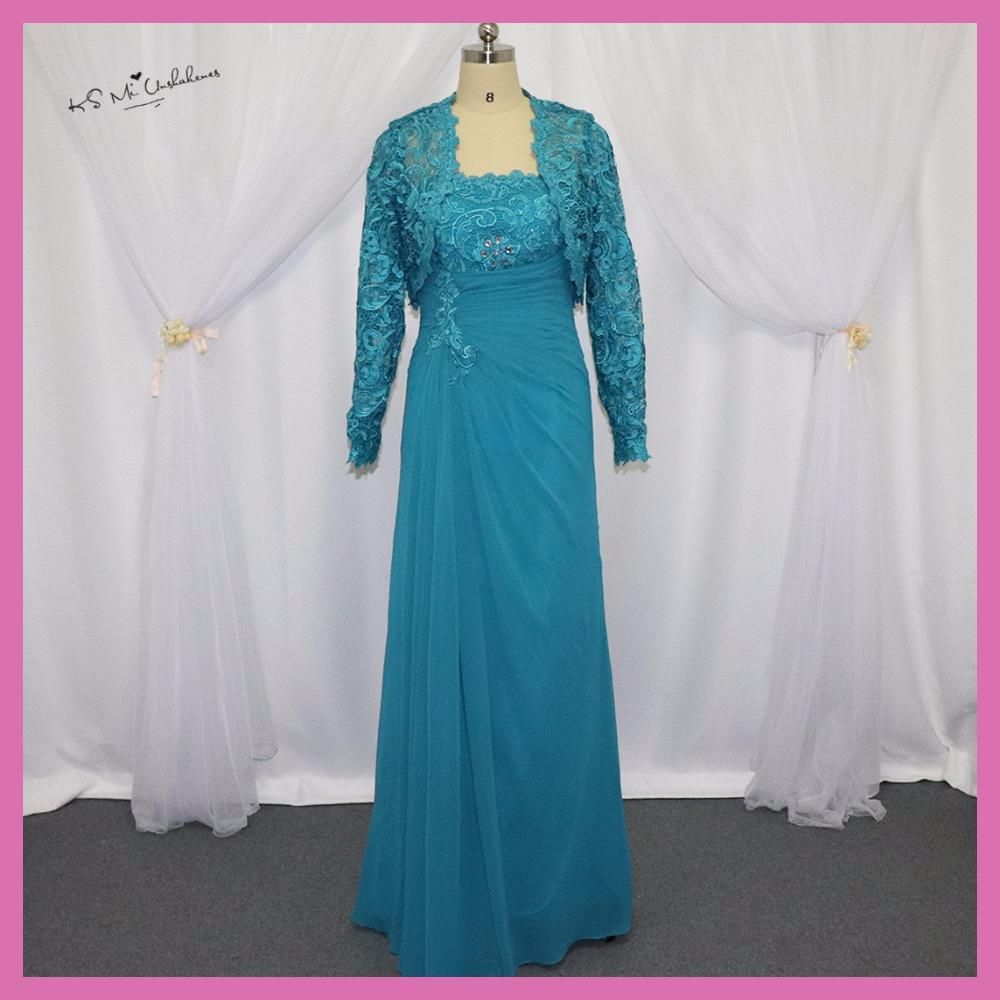 Turquoise Mother of the Bride Chiffon Pant Suits Wedding Plus Size ...
