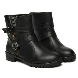 $19.13 Stylish Women's Short Boots With Pointed Rivets and Buckles Design