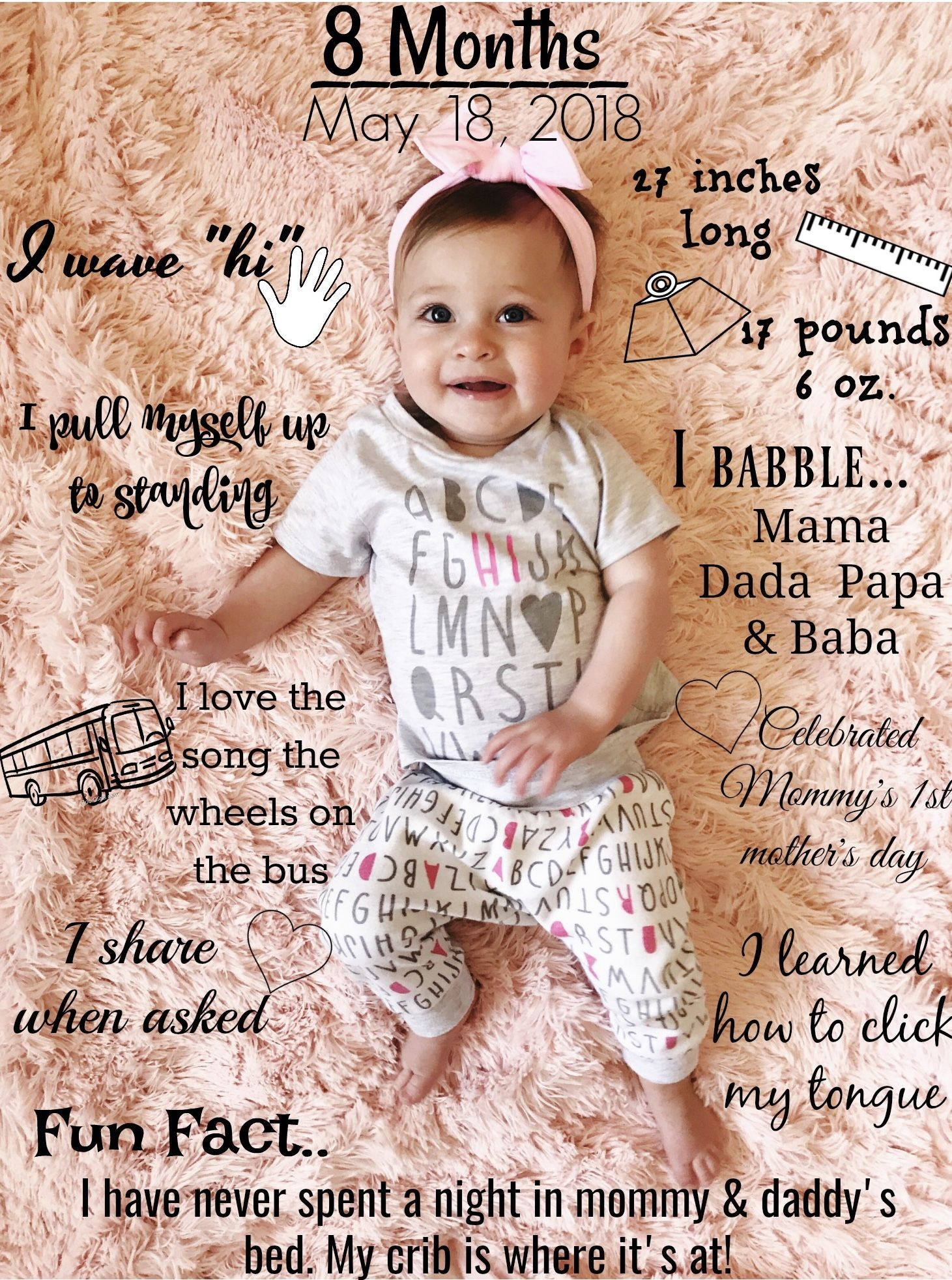 Blondebowyer Instagram Photos And Videos Monthly Baby Pictures 8 Month Milestones Baby 7 Month Baby