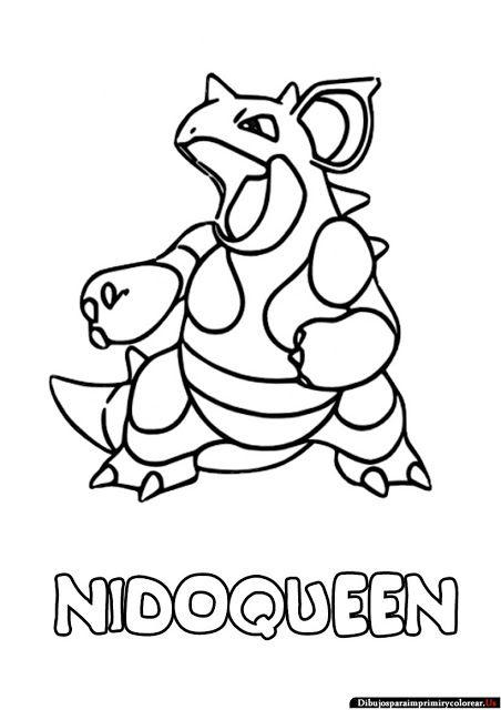 Dibujos de Pokemon para Imprimir y Colorear nidoqueen Pinterest - best of pokemon coloring pages meganium