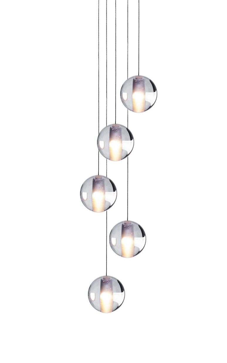 This modern Globe light made from Crystal glass design holds 5