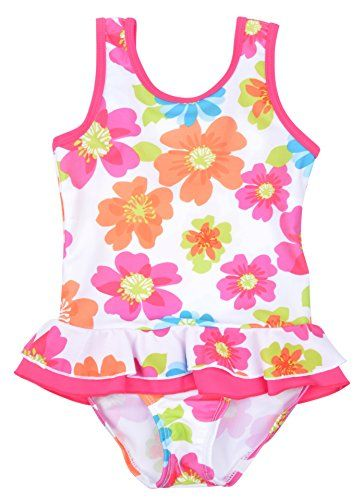 AM CLOTHES Girls Cute One Piece Flower Print Ruffle Skirted Swimsuit (US(4T), Colorful) - http://shopping-craze.com/2016/06/14/am-clothes-girls-cute-one-piece-flower-print-ruffle-skirted-swimsuit-us4t-colorful/