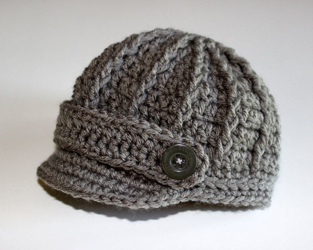 Photo of Newborn Boy Baby Hat Cap, Gray Grey, Baby Gifts, Infant Boy, Photo Prop, Coming Home Outfit, Crochet Hat, Knitted Hat, Christmas gift