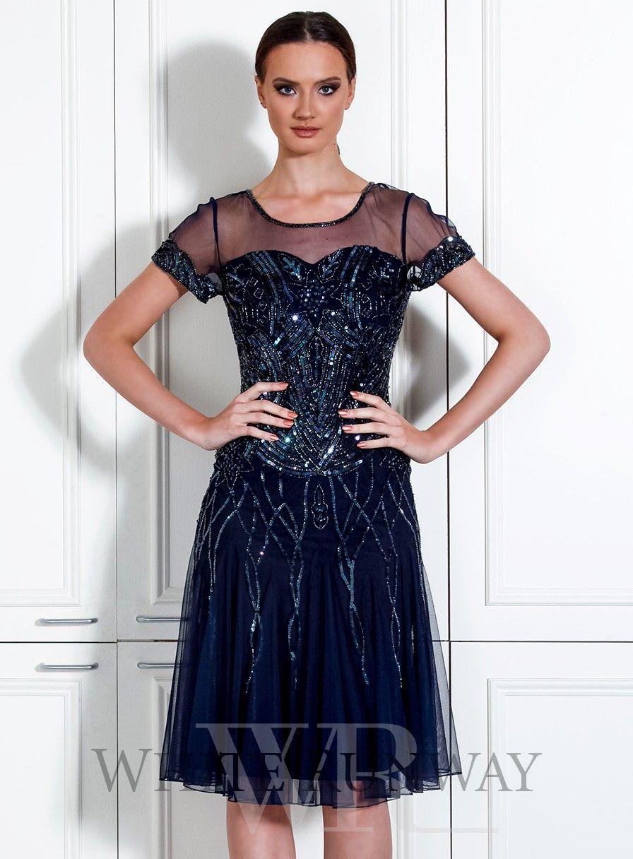 Violet Dress. A beautiful cocktail dress by Mr K. A flattering ...