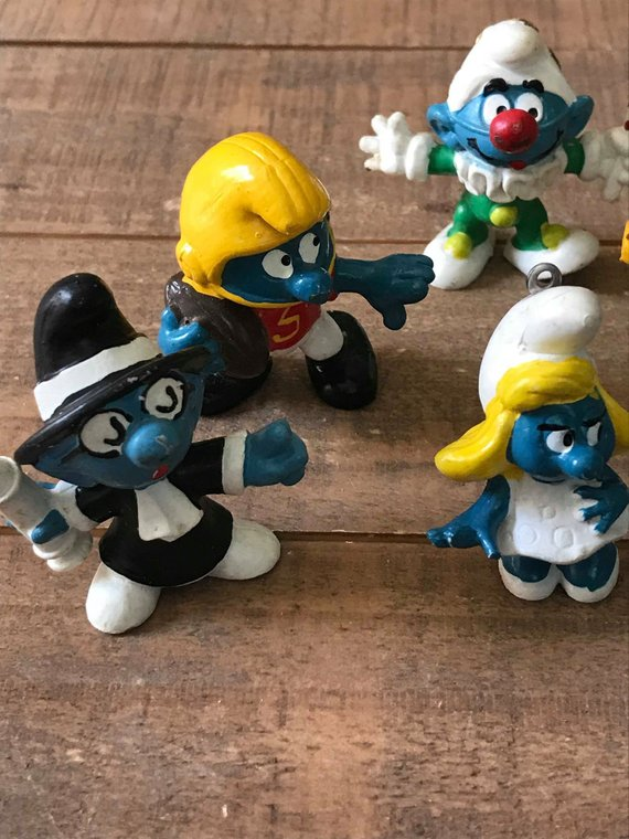 Vintage Smurf Toys Smurf Collection Vintage Smurf Collectibles