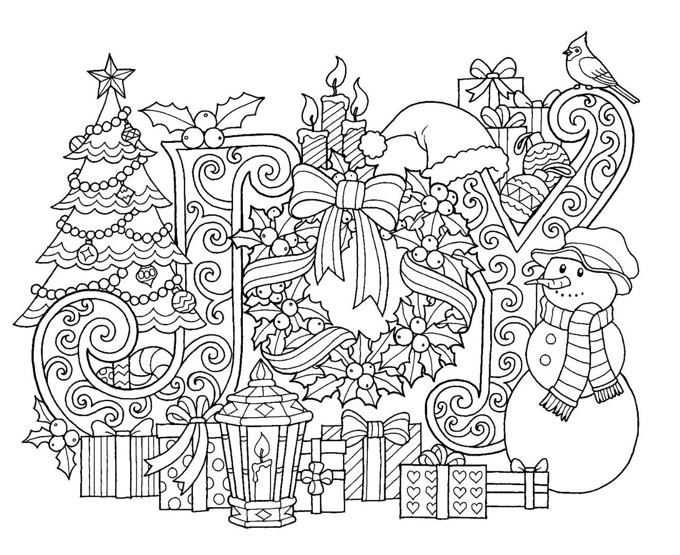 - Christmas Joy Coloring Page Christmas Coloring Sheets, Coloring