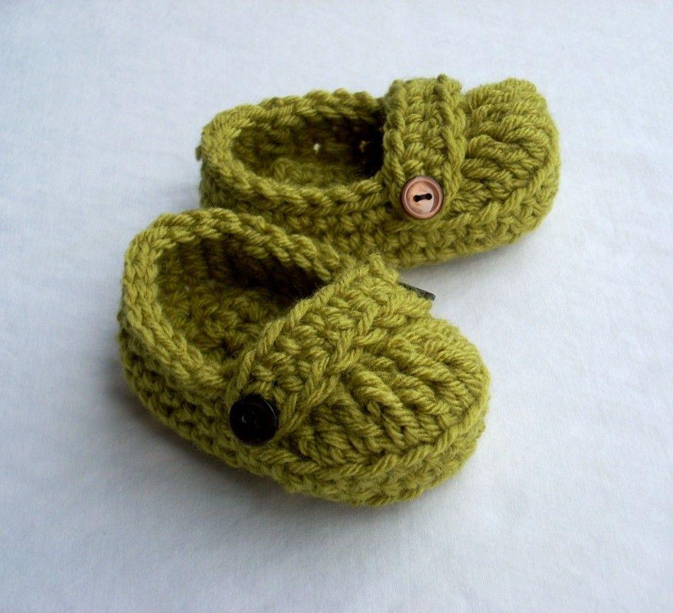 Botines del bebé - Crochet Patterns gratis para botines y zapatillas ...