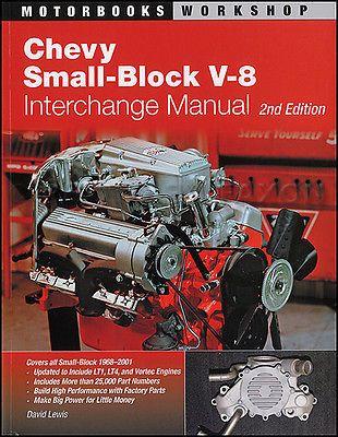 1968 2001 Chevy Small Block V8 Engine Parts Interchange Manual