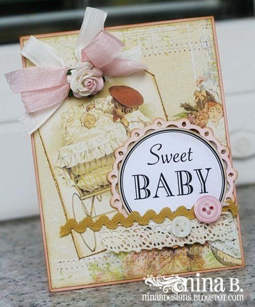 Sweet Baby card by NinaB @2peasinabucket