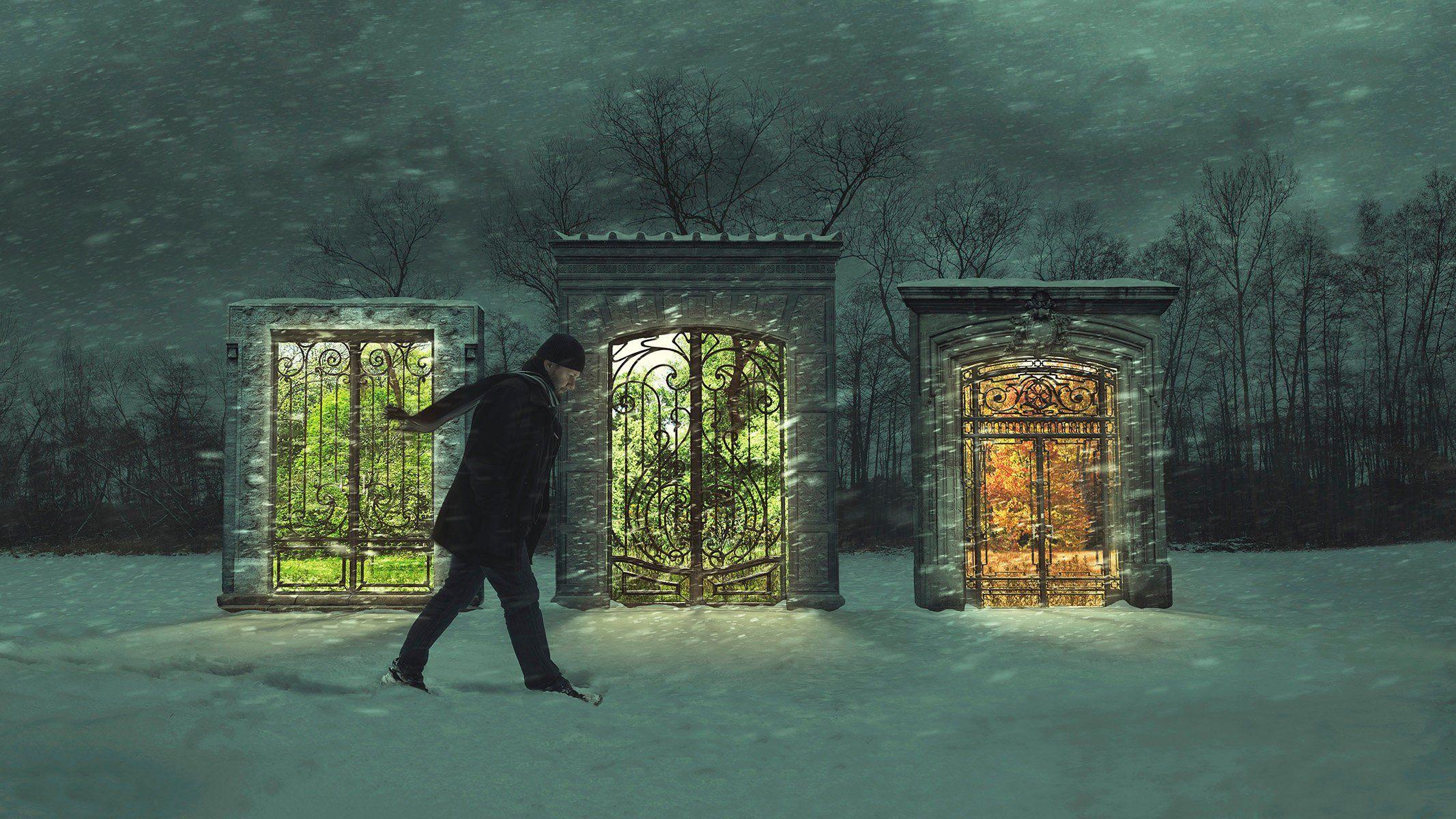 Fine art photography print fantasy winter scene in etsy