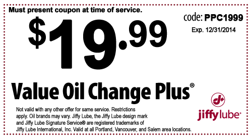 jiffy lube value oil change plus coupon