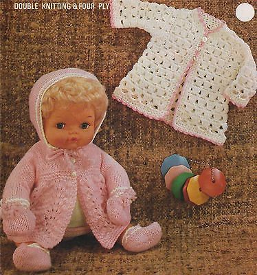 Dolls Clothes Knitting & Crochet Pattern : 15 inch doll Tiny Tears ...