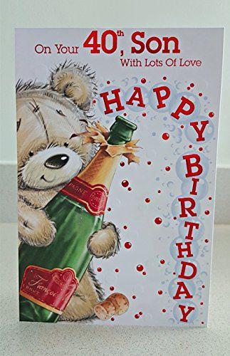 40th Son Birthday Card Son 40th Https Www Amazon Co Uk Dp B01ejeznrw Ref Cm Sw R Pi Dp Tlzmxbrw3khbm Sons Birthday Birthday Cards For Son Birthday Sign