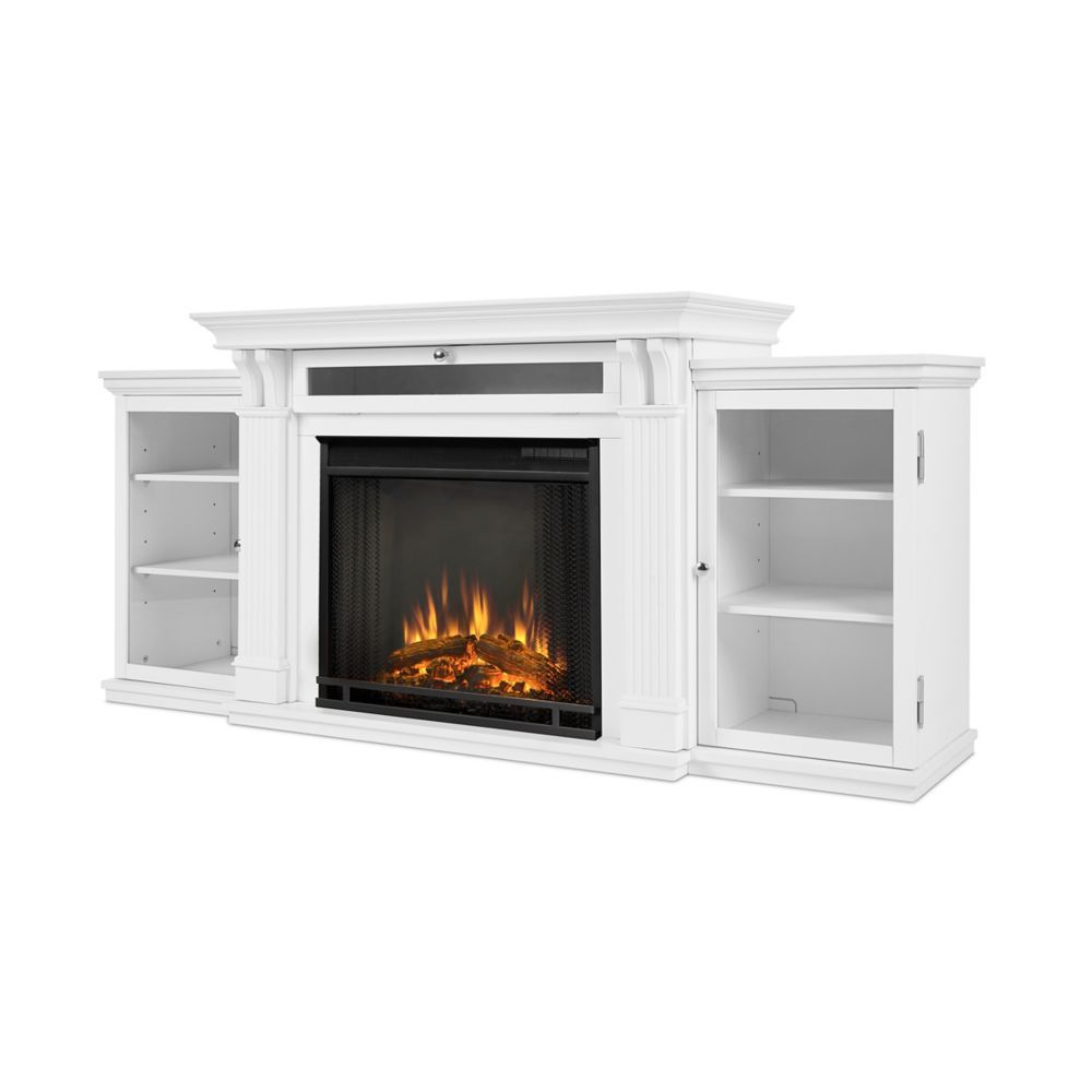 Calie Entertainment Electric Fireplace In White Electric