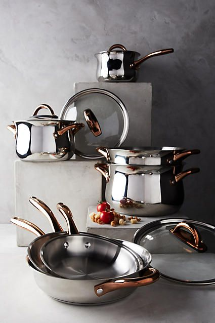 Berghoff Copper Handled Cookware Set Home Inspiration