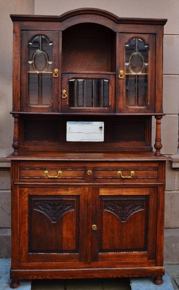 Antike Küchenschrank Buffet Gründerzeit, Jugendstil, Second Empire Eiche  Massiv