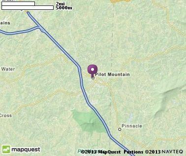 Map Of Pilot Mountain Nc North Carolina Hotels Restaurants Airports