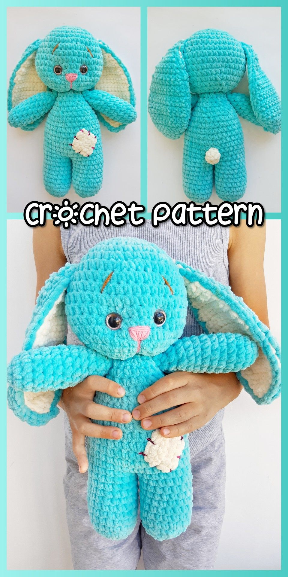 BUNNY RABBIT | HOW TO CROCHET | AMIGURUMI TUTORIAL - YouTube | 1920x960