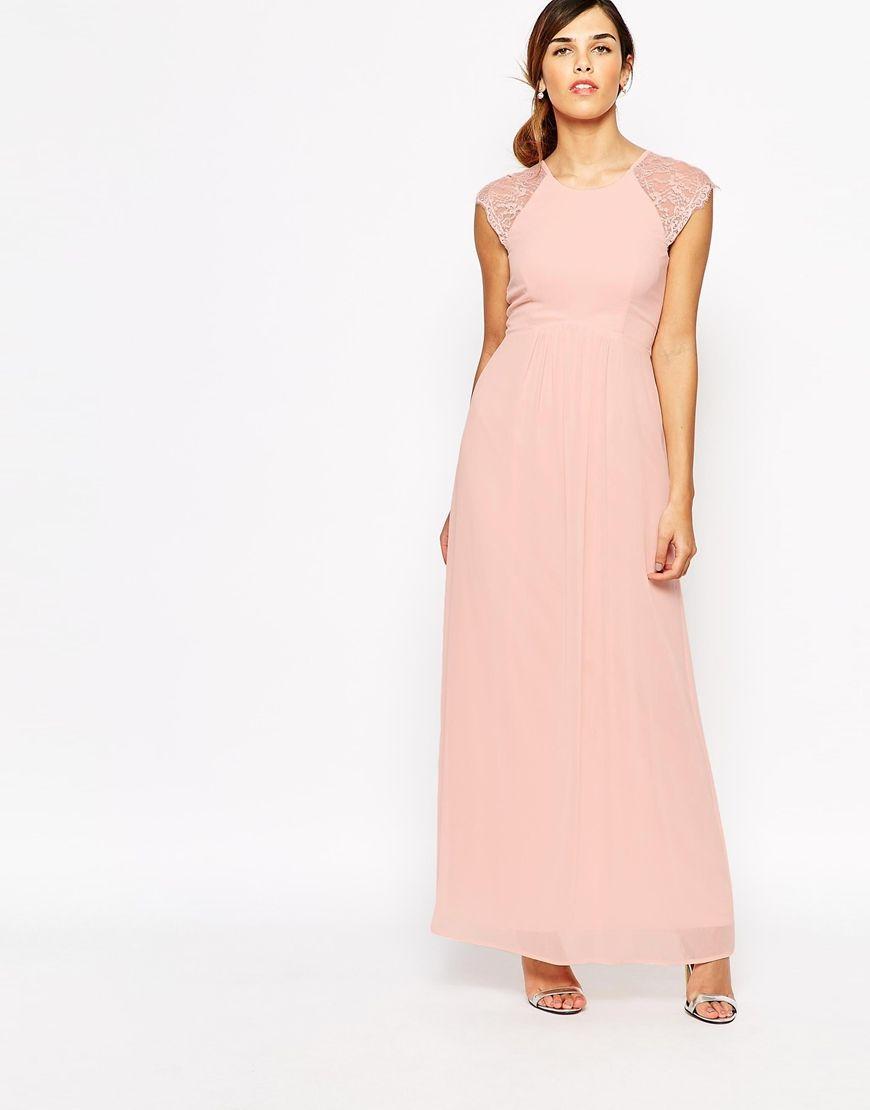 Image 1 - Elise Ryan - Maxi robe plissée avec manches en dentelle ...