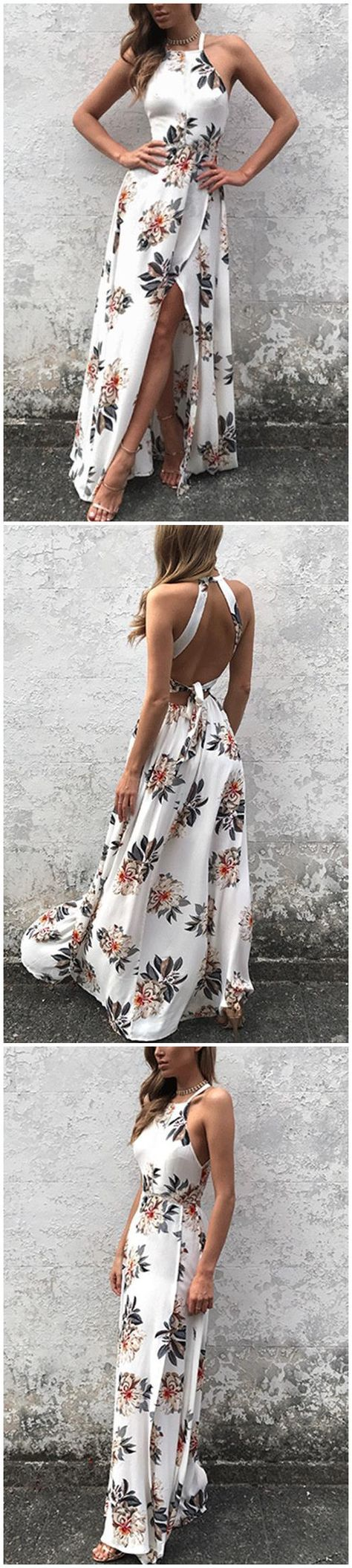 Sleeveless side split back laceup random floral print maxi dress