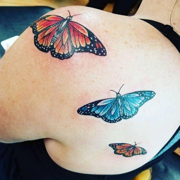 Butterfly tattoo by kelli from second skin tattoo inc