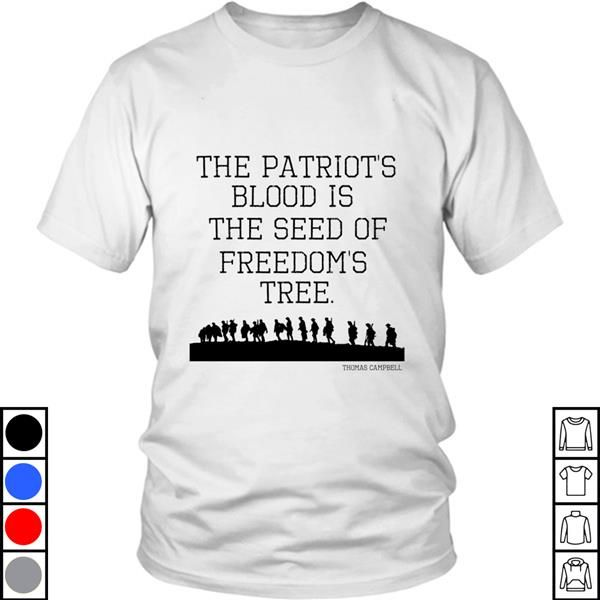 Teeecho Patriotic Usa Patriots Blood Seed Of Freedom Quote Gift T-Shirt, Sweatshirt, Hoodie for Men & Women