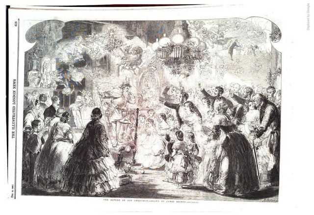 The Return Of Old Christmas Illustrated London News Dec 25