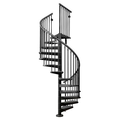 Best Arke Eureka 3 11 Black Spiral Stair Kit Spiral 400 x 300