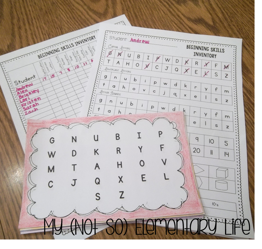 kindergarten skills assessment   great assessment and assessment organization tool for testing