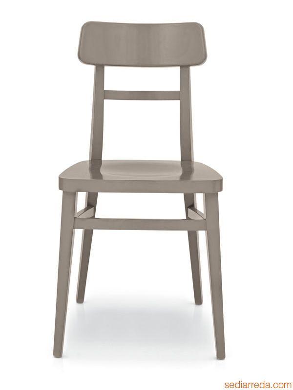 284 - Chaise en hêtre laqué gris tourterelle opaque Déco Maison