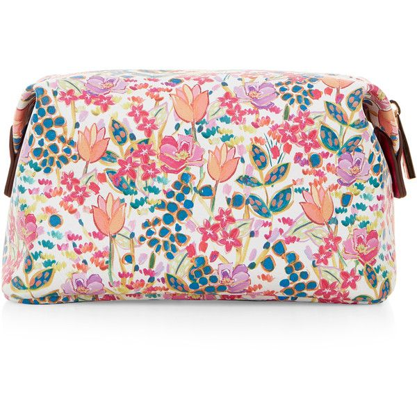 Accessorize Summer Floral Make Up Bag (200 NOK) ❤ liked on Polyvore featuring beauty products, beauty accessories, bags & cases, travel toiletry case, cosmetic purse, make up bag, makeup bag case and travel bag