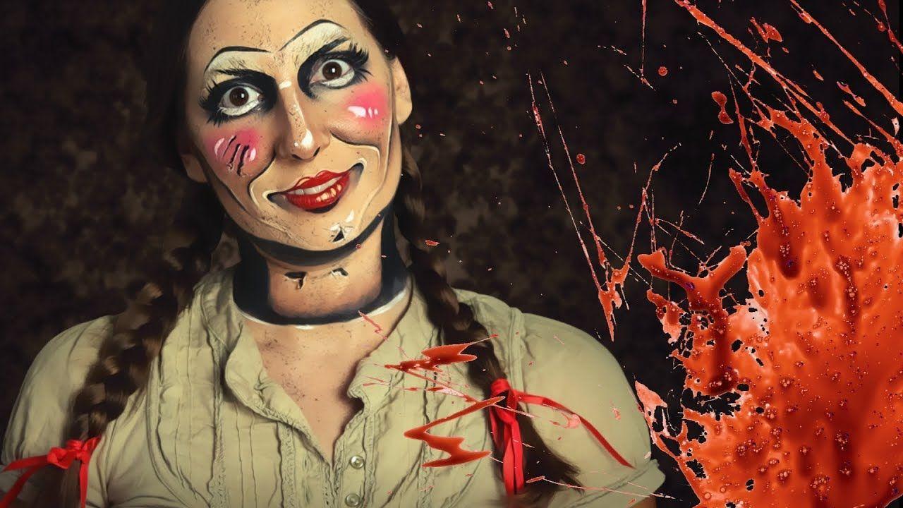 Annabelle Makeup For Halloween Creepy