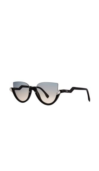 3831022c3ea57 FENDI Blink Half-Rim Crystal Cat-Eye Sunglasses Item No. 4305449219 ...