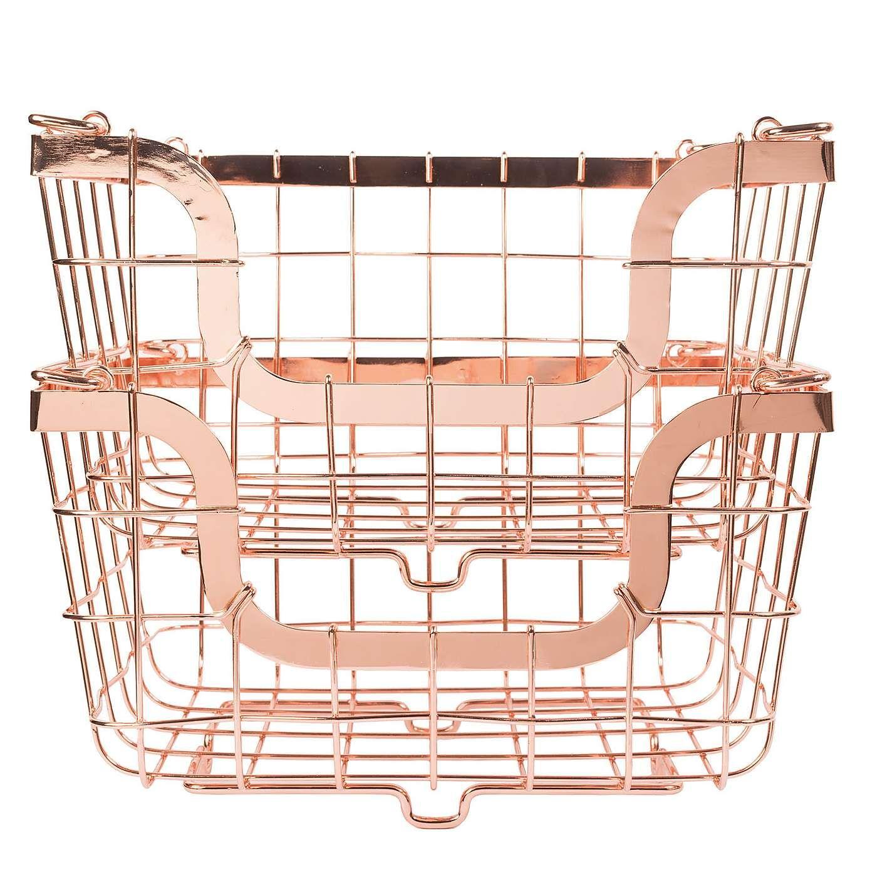 Dunelm 2 Copper Stacking Baskets