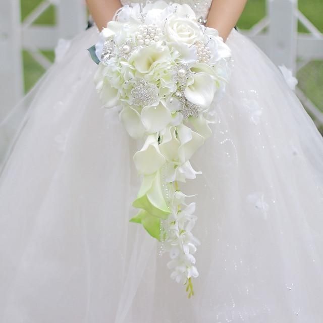 Photo of Trailing Waterfall Bridal Bouquets