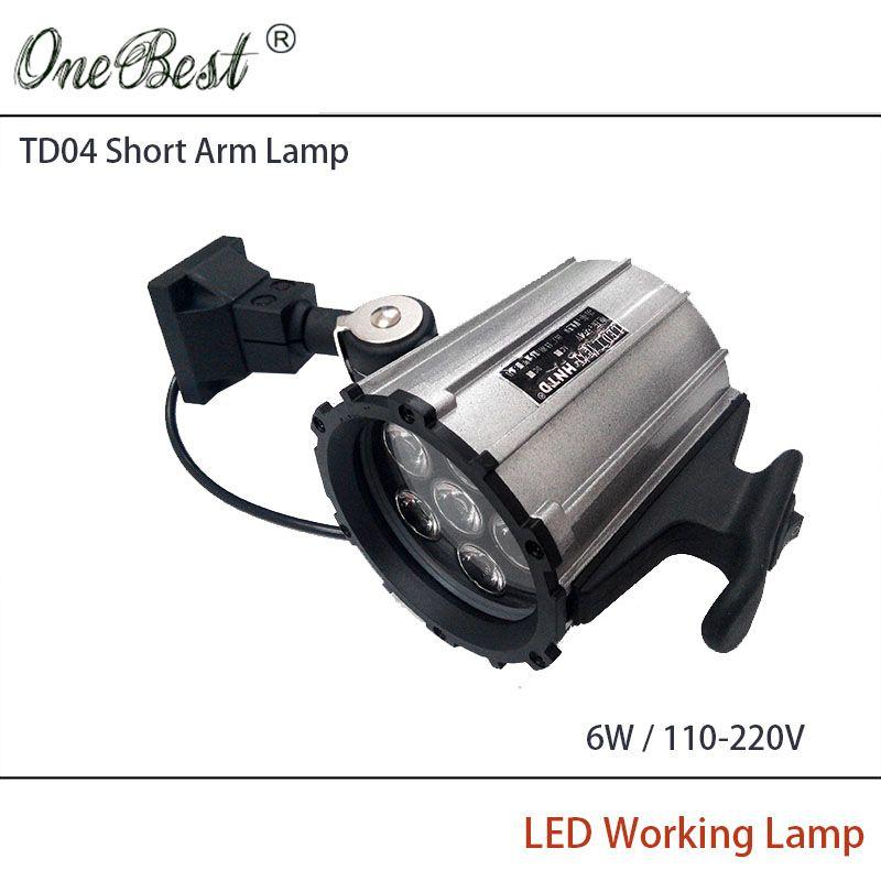 HNTD 6W 110V/220V LED Short Arm Fold CNC Machine Tools Worklight Equipment LED work Waterproof Spotlights IP65 Free shipping #Affiliate