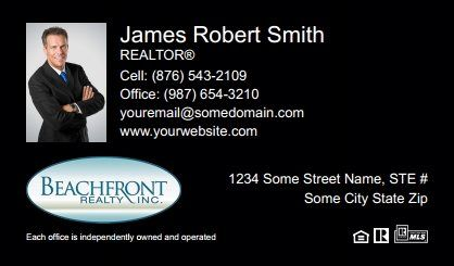 Beachfront Realty Business Cards Bri Bc 034 With Photo