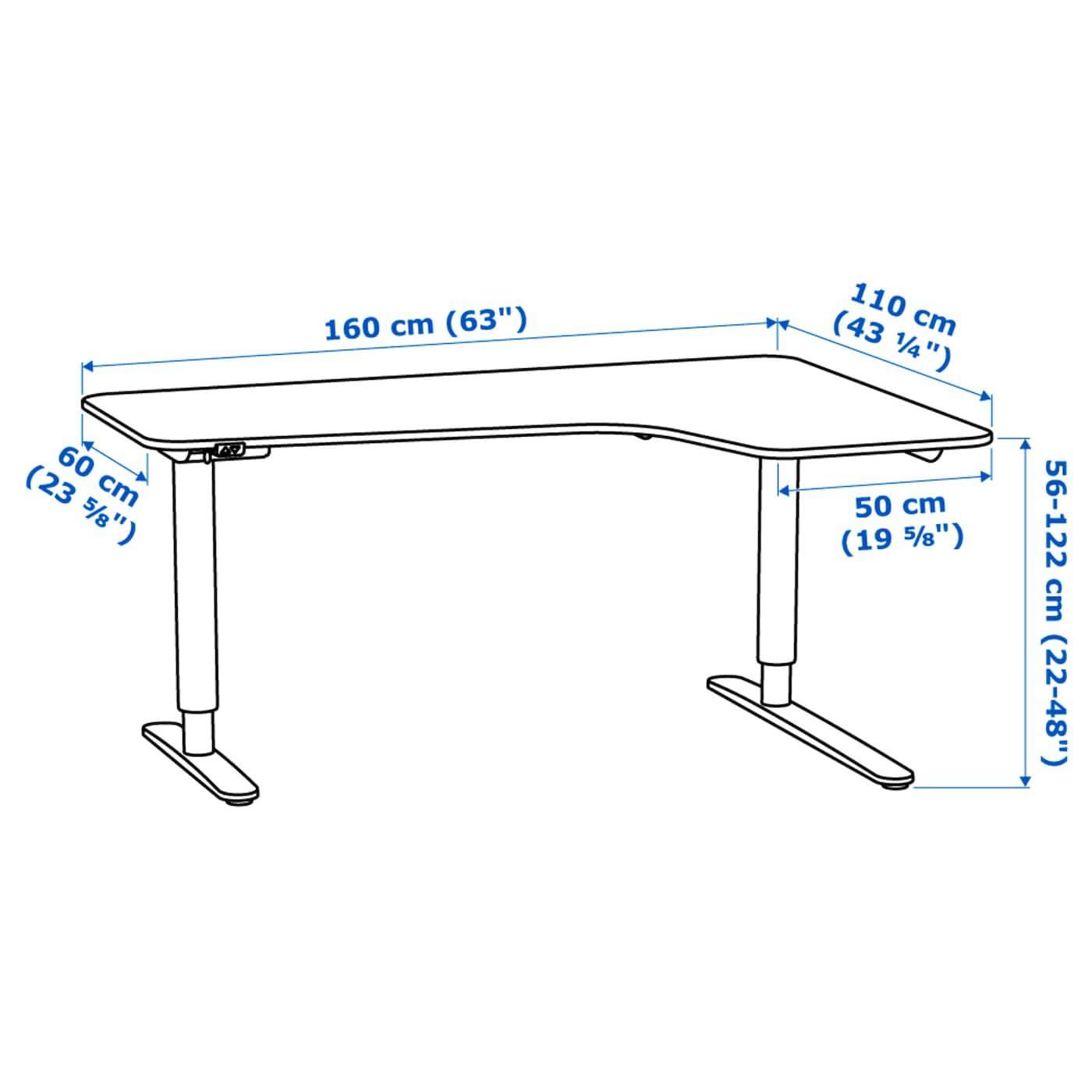 Bekant Bureau D Angle Dr Assis Debout Blanc 160x110cm Magasinez Sur Fr Ikea Ca Ikea Ikea Bekant Ikea Galant Desk Desk Dimensions