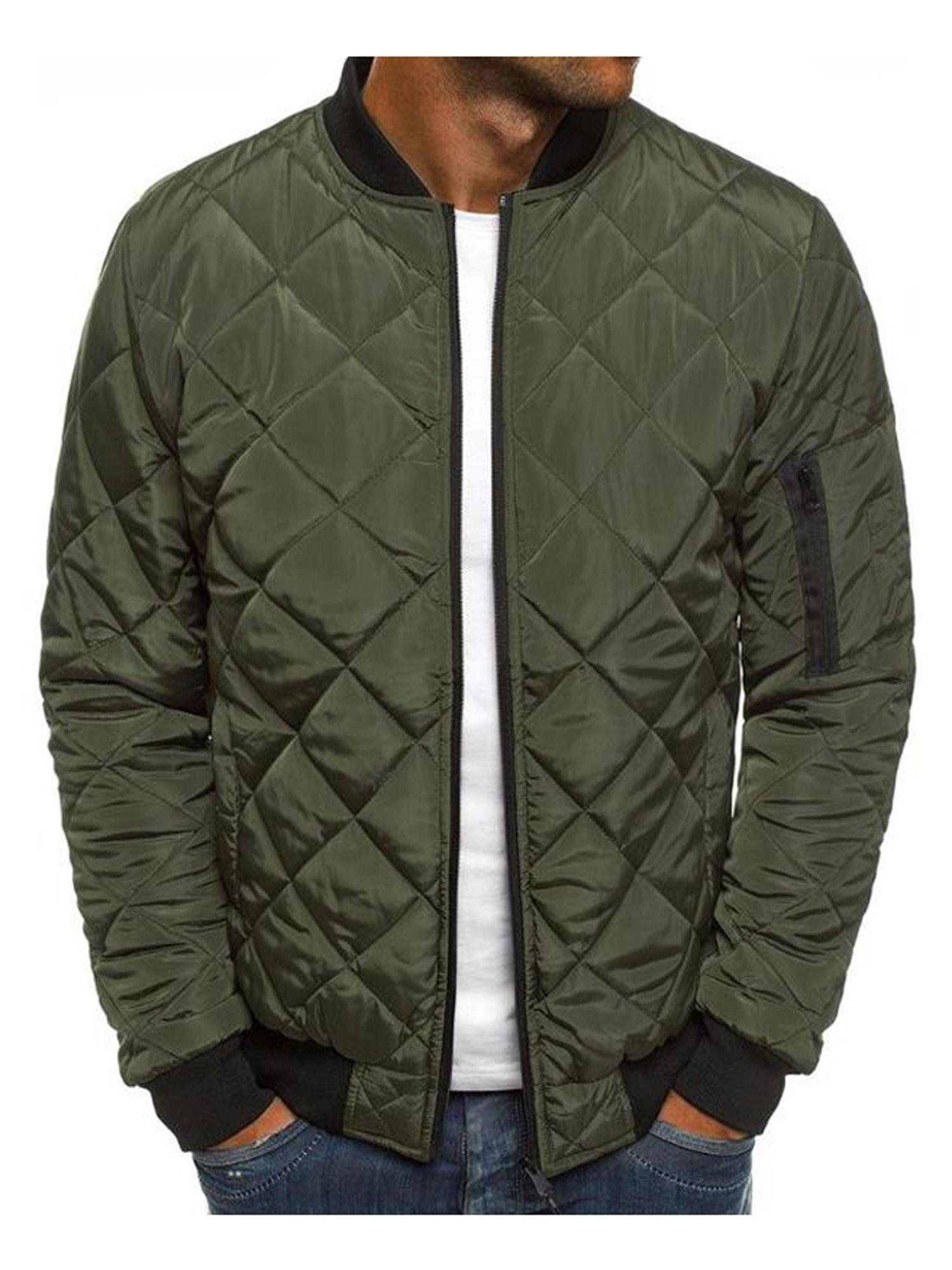 Men S Padded Quilted Puffer Bomber Jacket Zipper Coat Outwear Winter Tops Casual Walmart Com Winter Jacket Men Quilted Bomber Jacket Winter Jackets [ 2000 x 1500 Pixel ]