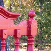 Crafty before's and afters:  Peppermint Pattie {Red Headboard Bench}