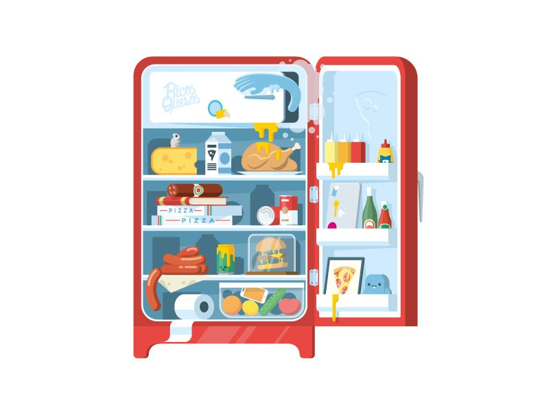 Our fridge! | Photography illustration, Illustration design, Illustration