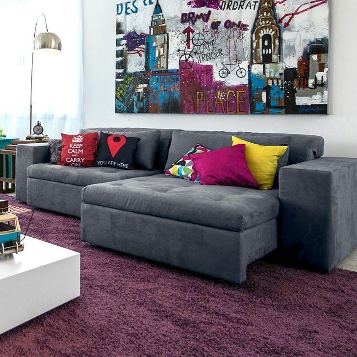 sof cinza chumbo  Pesquisa Google  Decor Sala