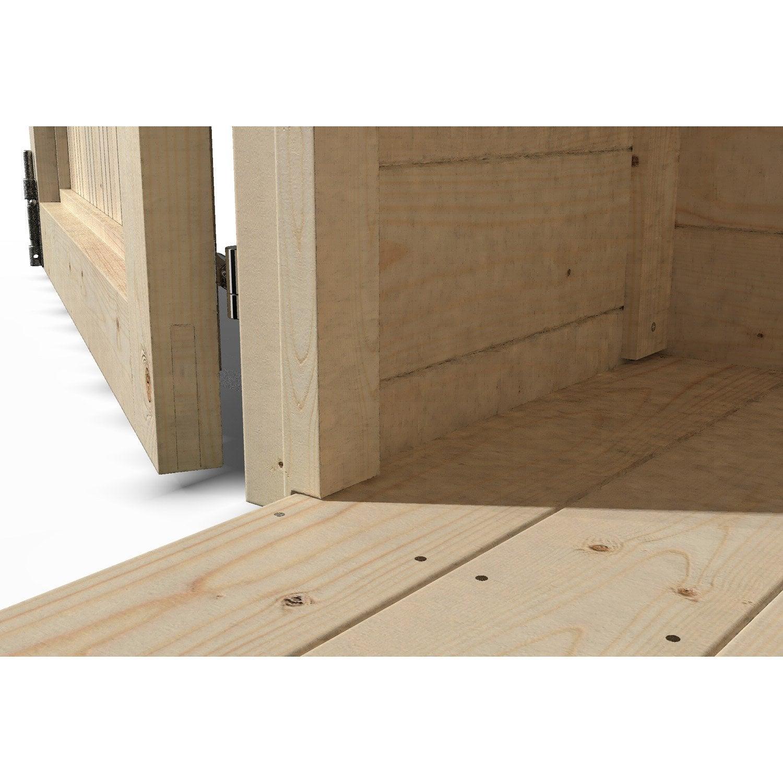 Plancher En Bois Naterial Pour Abri 6m² Classique L242 X H