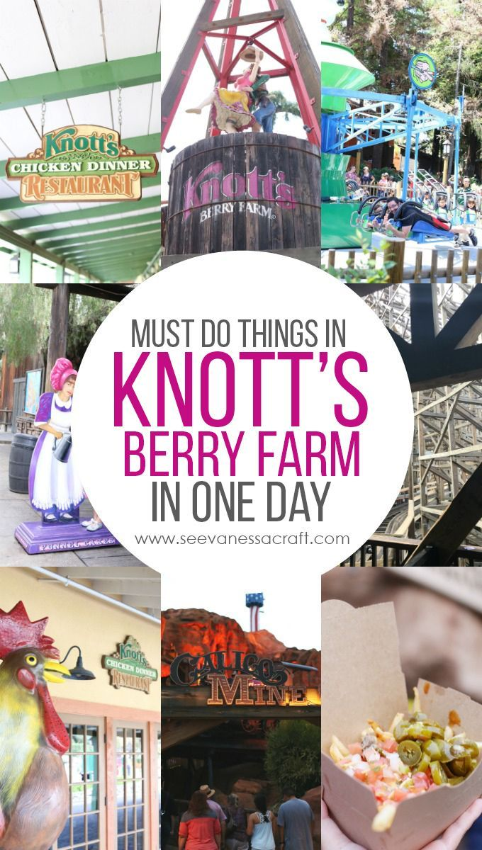 Travel Knott's Berry Farm in One Day Checklist Knotts