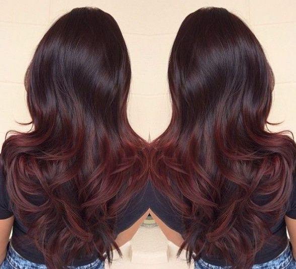 Black to dark red ombre - subtle | Ash | Hair styles, Red ...  Black to dark r...