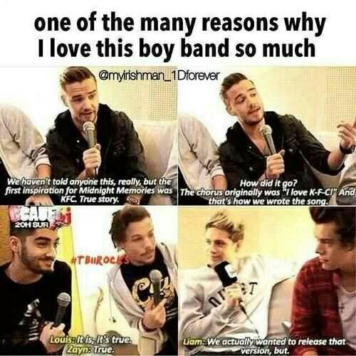 I Would Honestly Love That Song Since I Love Kfc It S Sooo Good One Direction Humor One Direction Facts One Direction Memes