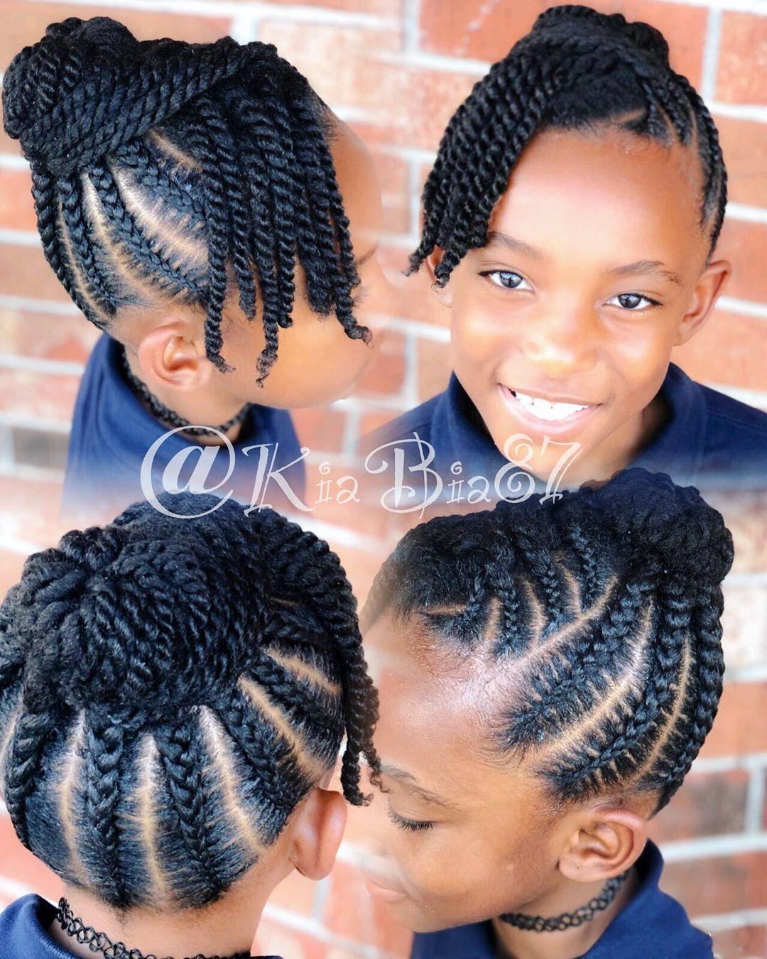 Lil Naturals Kiasnaturals Hinesvillebraider Naturalhairstyles Kidbraids Stitchbraids Savannahbraid Lil Girl Hairstyles Hair Styles Natural Hair Styles